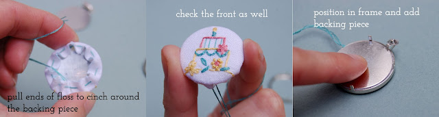 Embroidery Pendant tutorial