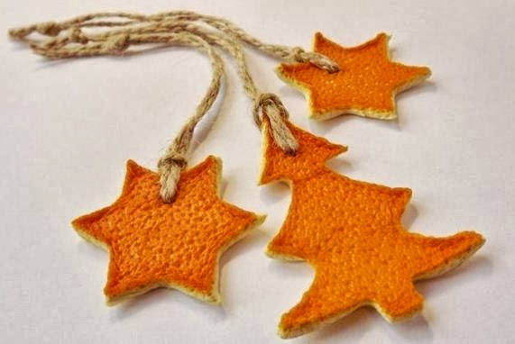 Manualidades estrellas con cascaras de fruta cositasconmesh - Como hacer color naranja ...