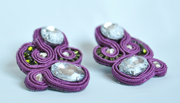 GRAPES - cristalli, perline, soutache