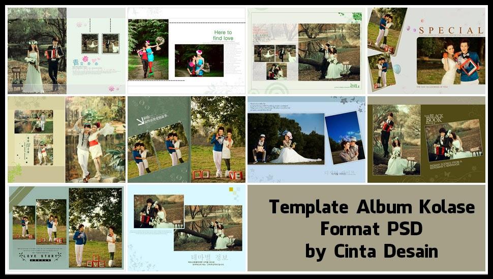Template album kolase format psd volume-5