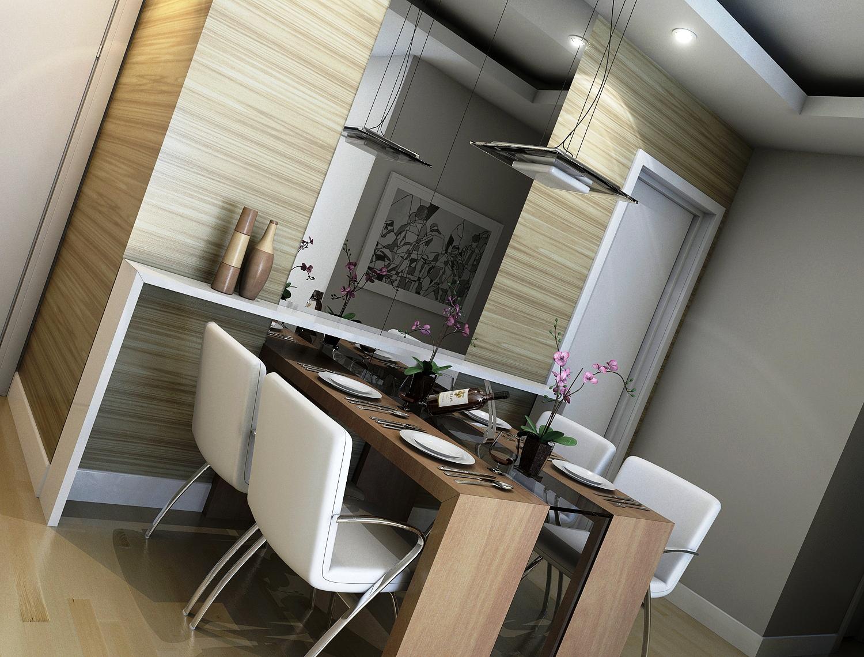Uma casa para n s dois cozinha integrada - Mesas para ordenador pequenas ...