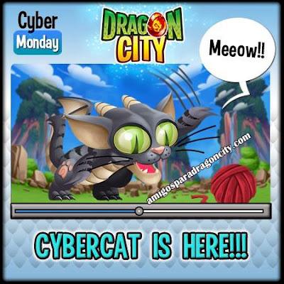 imagen de la promocion del lunes cibernetico de dragon city