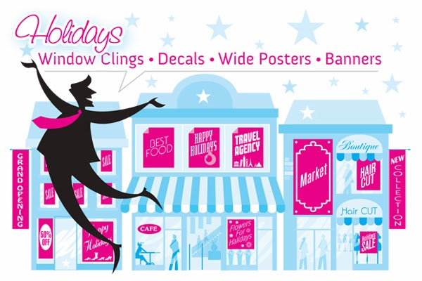 GotPrint holiday custom signage - banners and decals