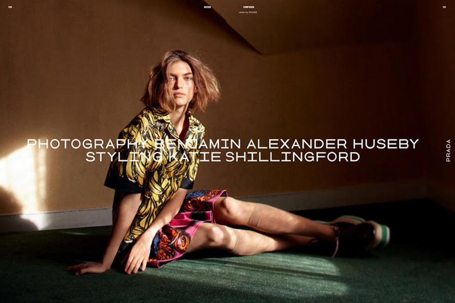 Arizona Muse for Dazed & Confused March 2011 by Benjamin Alexander Huseby