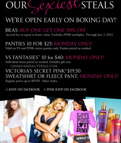 boxing day sale victoria's secret
