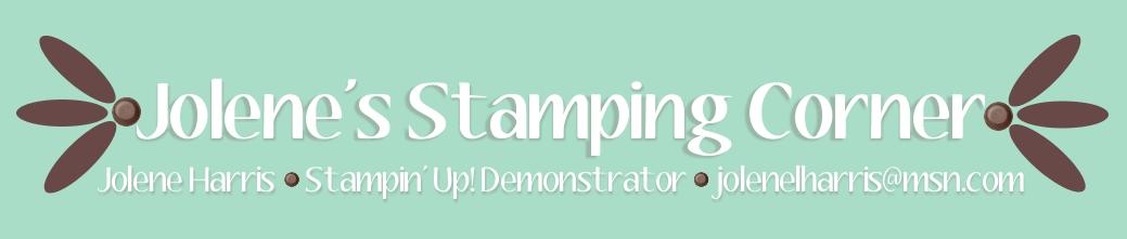 Jolene's Stamping Corner, Jolene Harris, Stampin' Up! Demonstrator