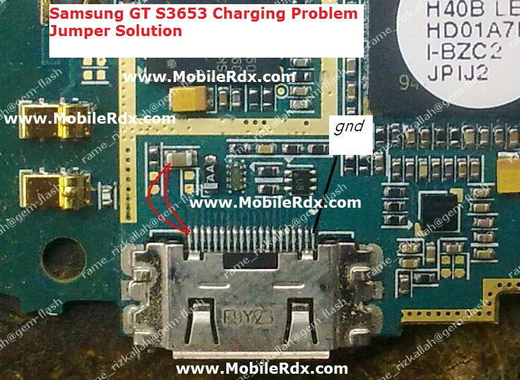 samsung gt s3653 charging problem jumper solution   cell phone repair