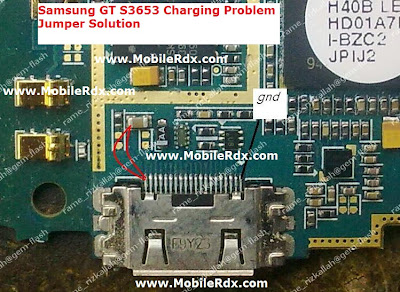 Samsung GT S3653 Charging Jumper Track Ways Solution