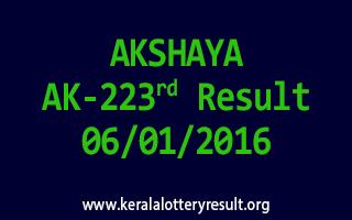 AKSHAYA AK 223 Lottery Result 6-1-2016
