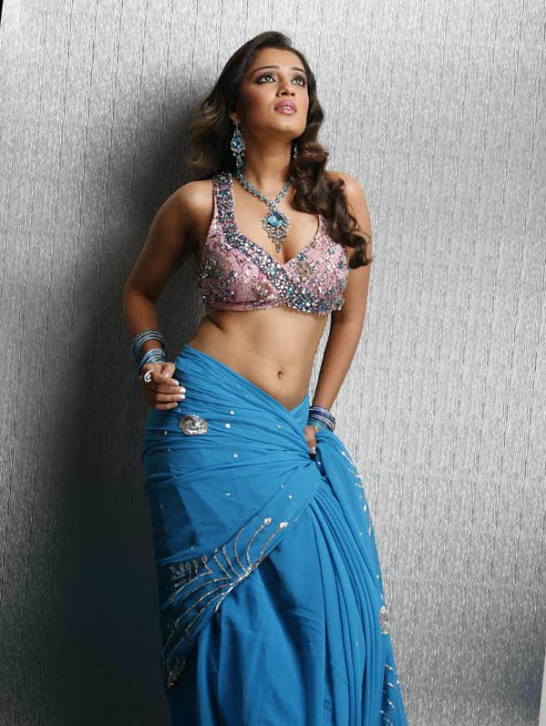 Actress Nikitha Hot Saree Below Navel Show Photos navel show