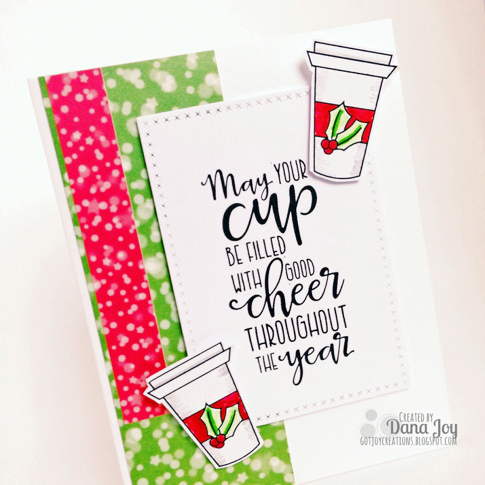 Coffee inspired holiday card got joy creations by dana joy heres a quick video on how this card came together i love when a card comes together in list than ten minutes the most work that needed to be done on kristyandbryce Choice Image