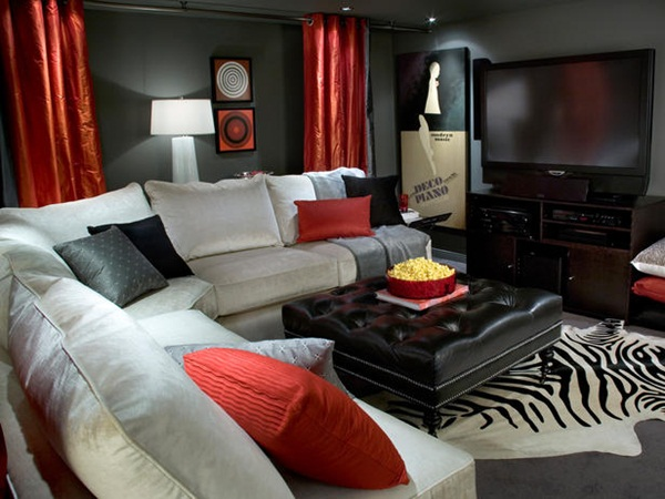 Transform Your Basement Into an Living Room by Candice Olson