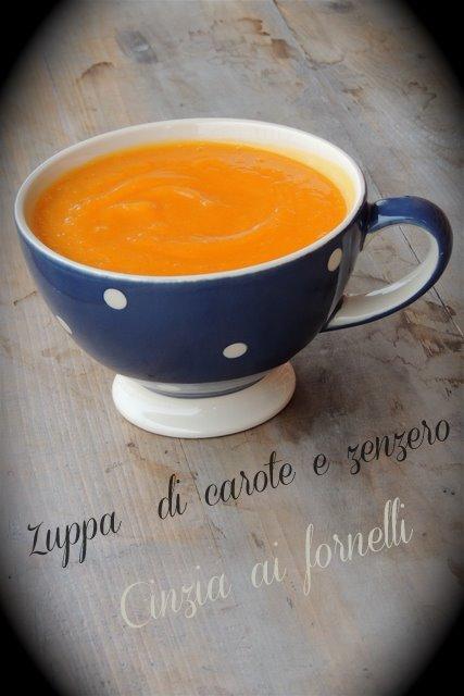 zuppa carote zenzero ricetta bimby
