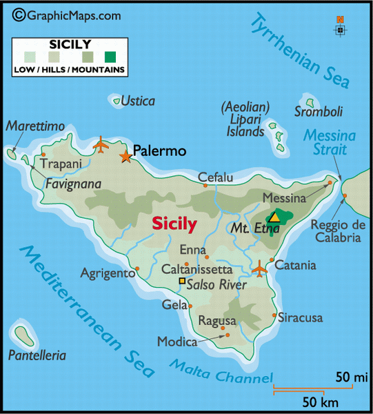 map of palermo italy sicily - photo#2