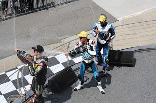podium de moto2 en indianapolis
