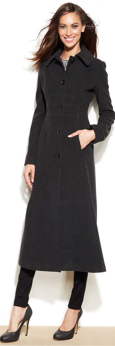 Anne Klein Wool Blend Maxi Walker coat