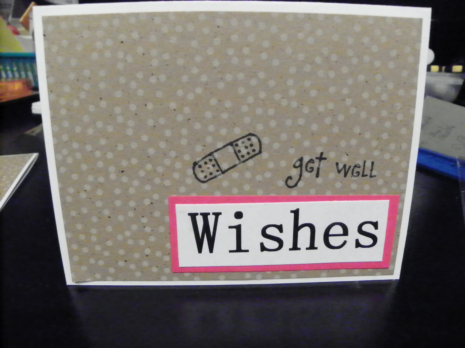 A super easy Get Well Card, the stamps are from
