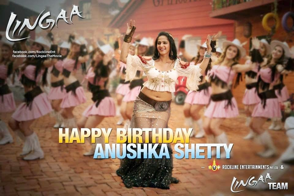 Lingaa Movie Anushka birthday Wishes Photo