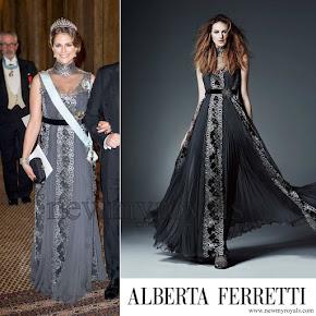 Princess Madeleine style Alberta Ferretti Pre-Fall 2015