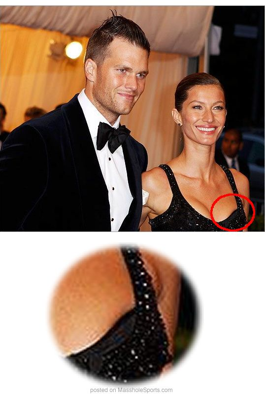 Photo Was Gisele Bundchen Victim Of A Nipple Slip Last Night This Is Friggin Awesome Kid
