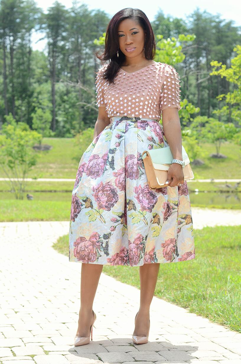 Living My Bliss InStyle: Crop Top   Midi Skirt