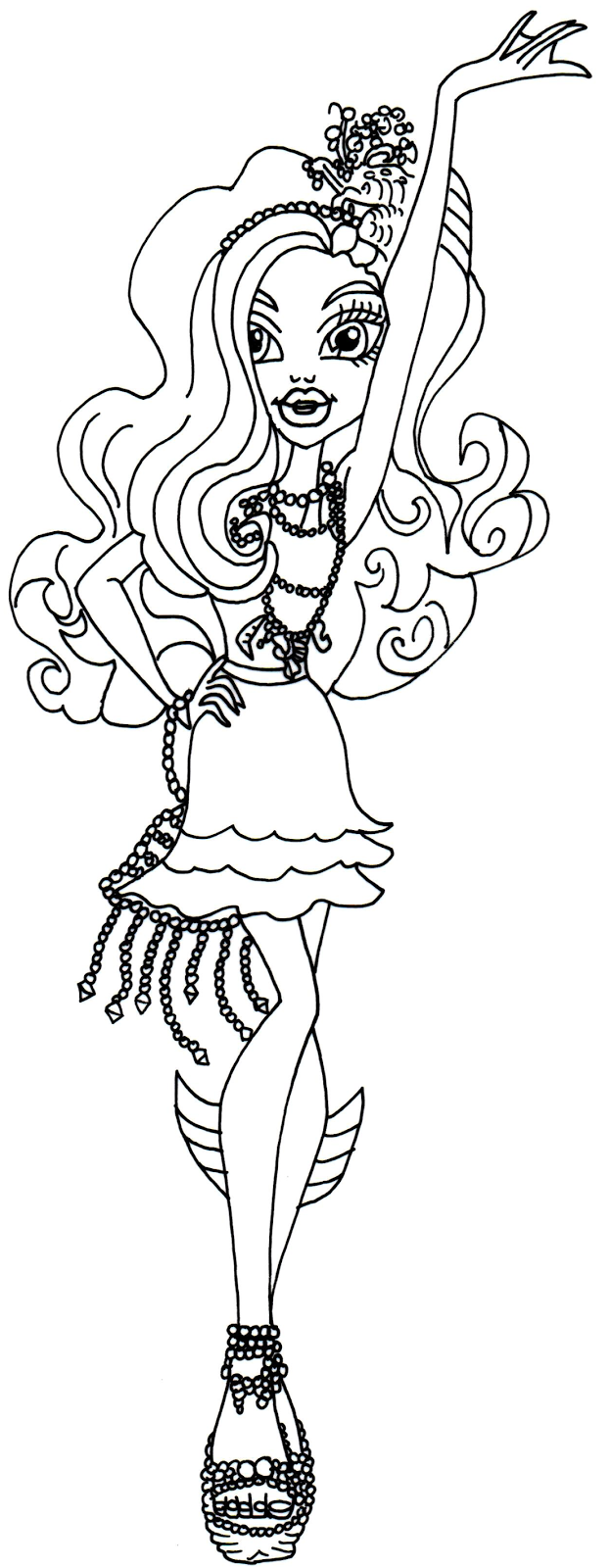 free printable monster high coloring pages lagoona blue