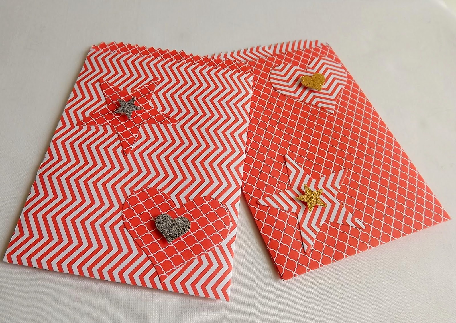 Stampin Up! mini treat bags, Calypso coral dsp