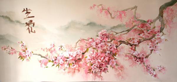 Цветы вишни рисунок 1