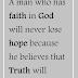 A Man-Who has Faith in God