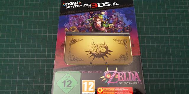 Première photo de la New 3DS XL Zelda Majora's Mask 3D édition collector
