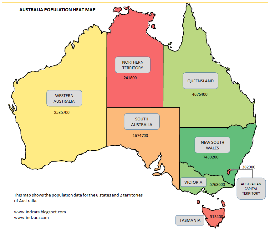 Maps Update 960900 Map of Australia with States – State Map of Australia