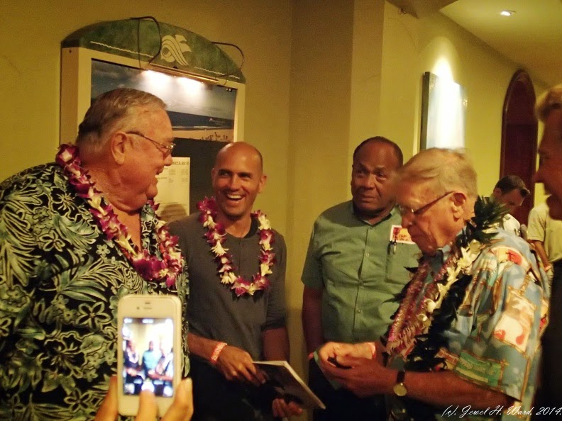 Greg Noll 11 Time World Champ Kelly Slater Chief Druku Of Tavarua And Endless Summer Film Maker Bruce Brown 4 Albums Additional Event Photos Can