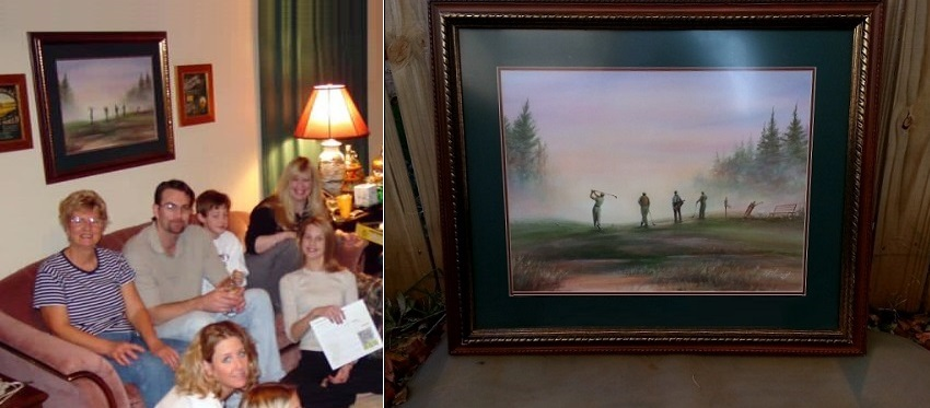 Golf Artwork: Custom Framed Golf Course Landscape (OKC) | Craigslist ...