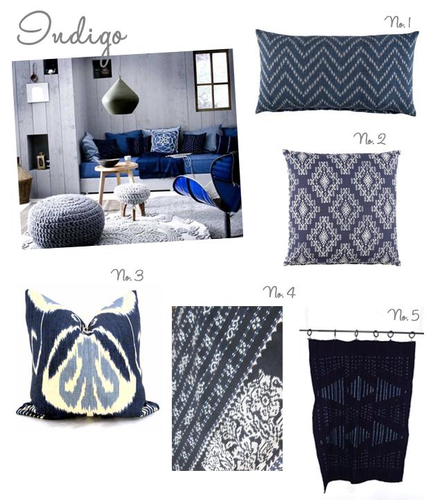 indigo pillows and fabrics