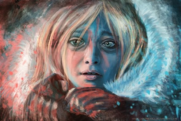 Angela Bermudez deviantart pinturas filmes cultura pop cinema Dakota Fanning em Guerra dos Mundos (War of the Worlds)
