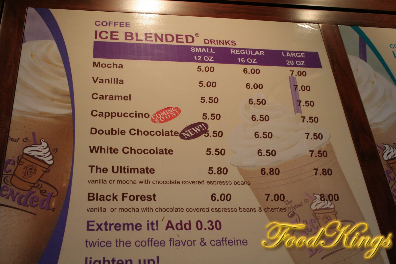 Coffee Bean Malaysia Price List The Table