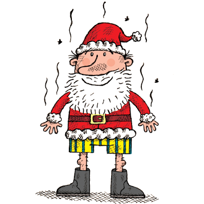 illustration from Stinky Santa, a Christmas ebook for kids
