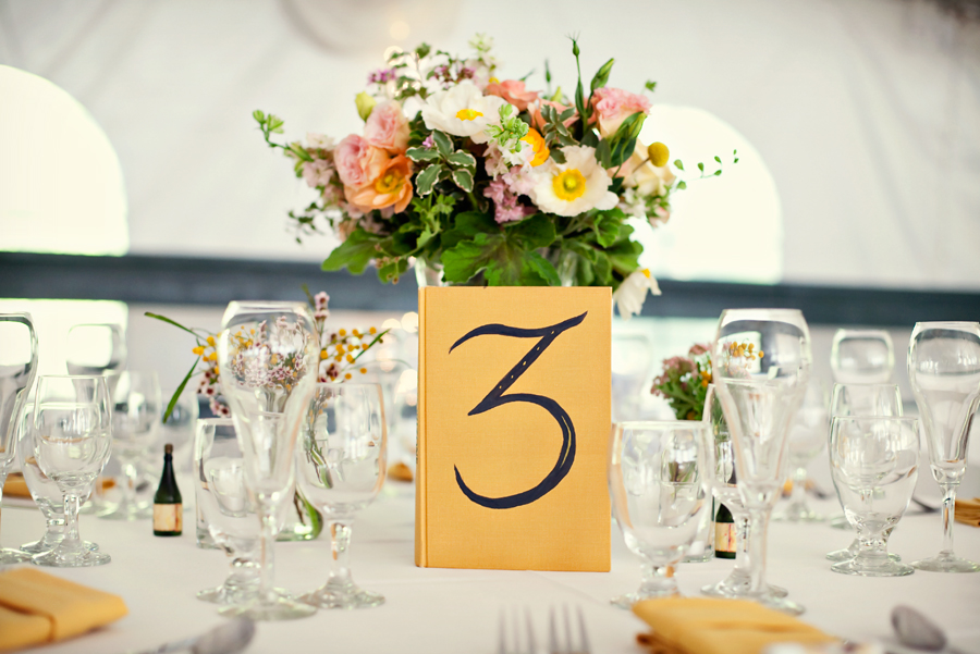 Vintage Book Table Numbers