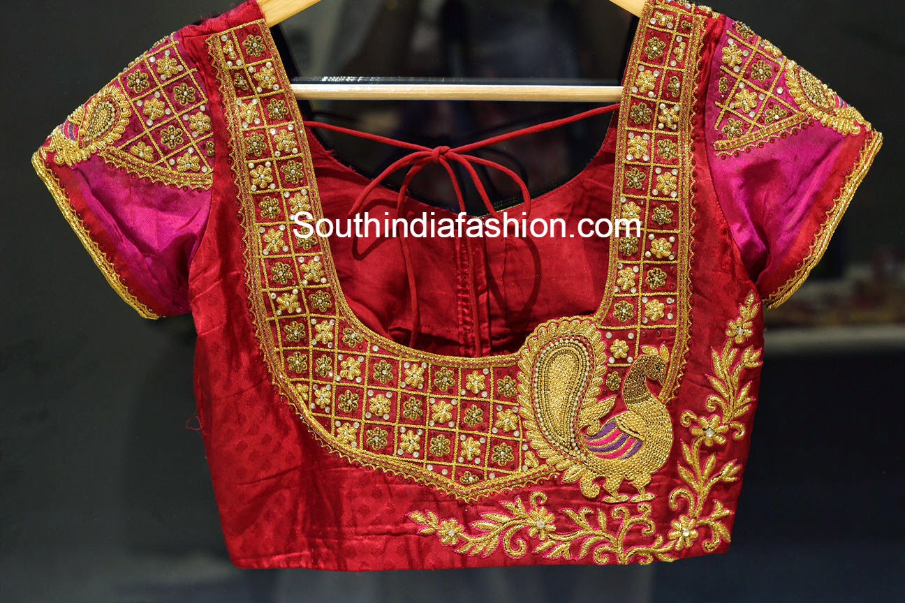 Blouse Embroidery Designs For Pattu Sarees Images