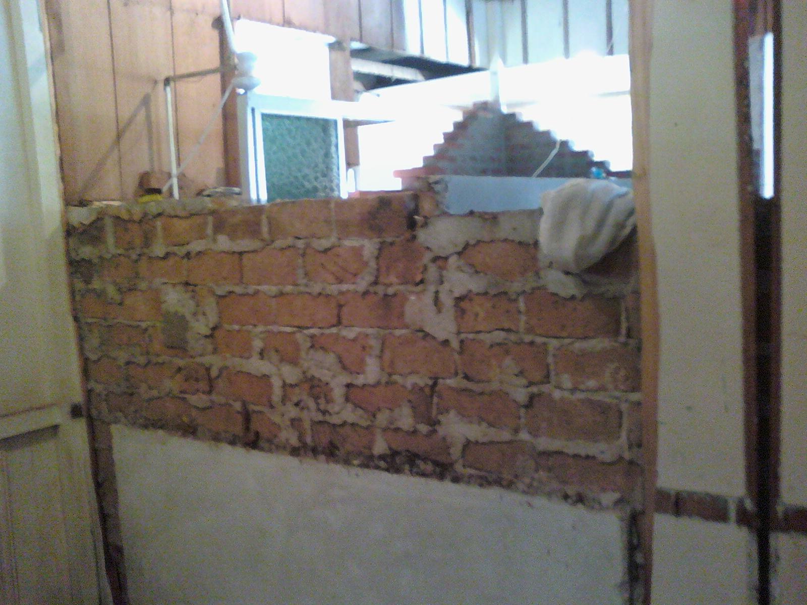 pra ver a lâmpada da cozinha ao fundo e a parede sendo levantada #486E83 1600 1200