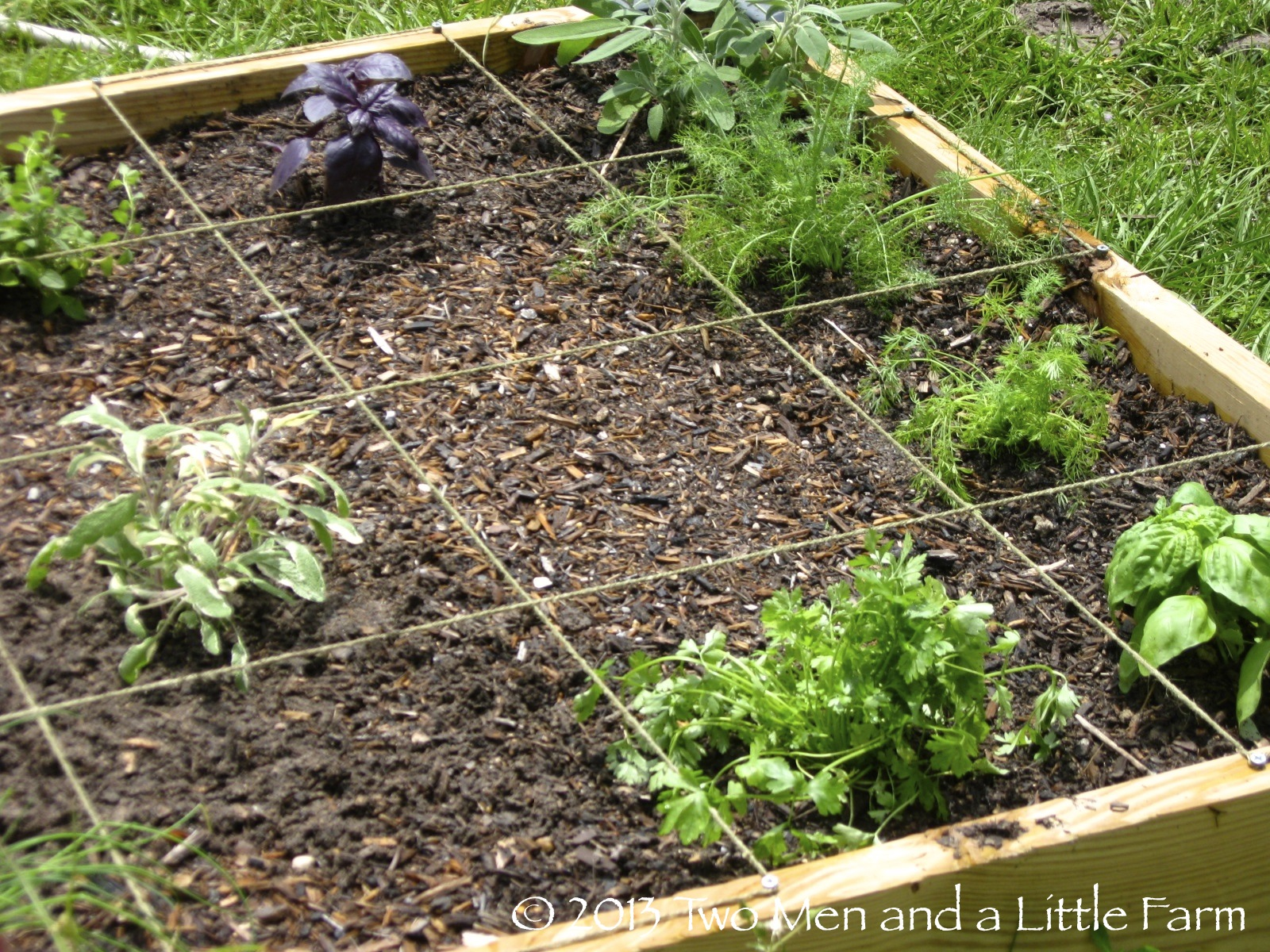 Two Men and a Little Farm: HOW TO MEASURE FOR SQUARE FOOT RAISED BED ...