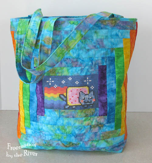 Nyan Cat tote at Freemotion by the River