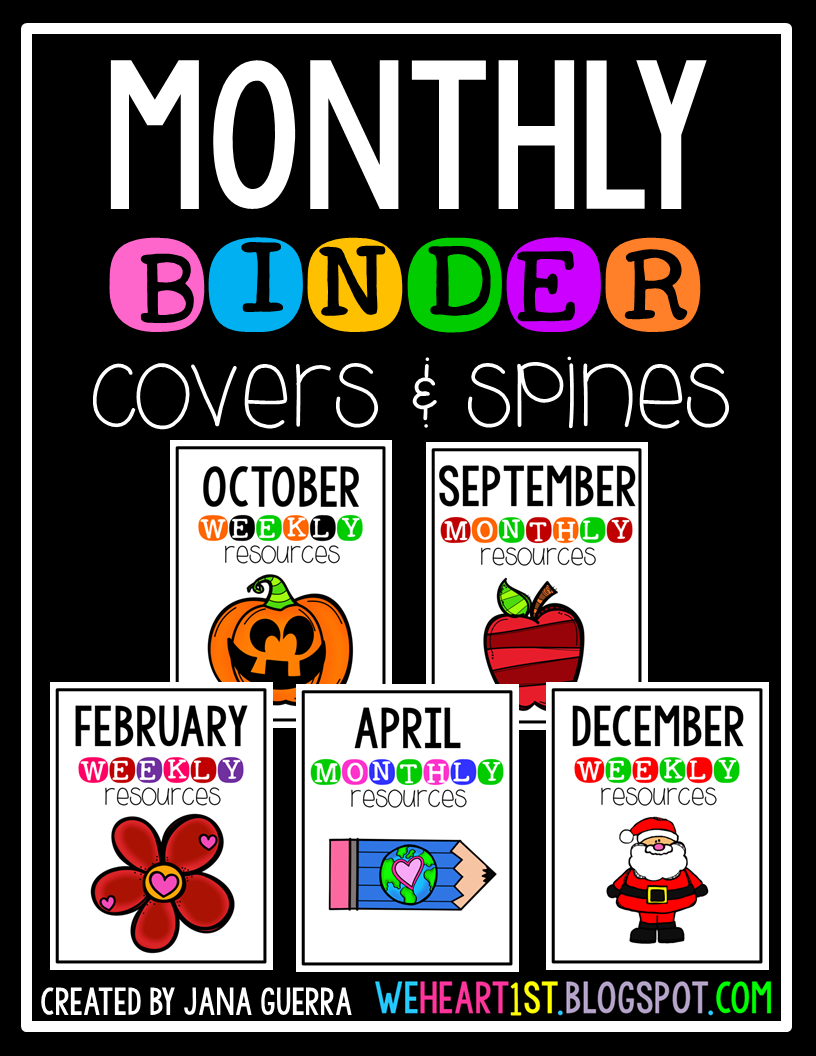 http://www.teacherspayteachers.com/Product/Monthly-Binder-Covers-1452028