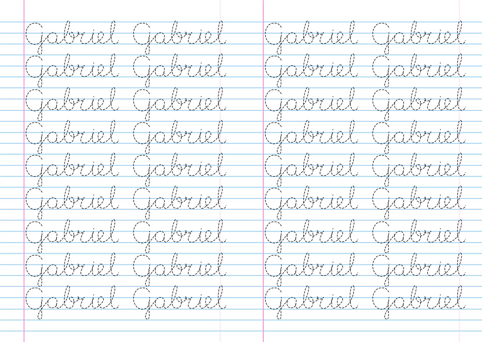 Atividade nome pontilhado para cobrir Gabriel + arquivo word