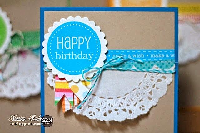 SRM Stickers Blog - A2 Card Set Kraft Window Box Shantaie Fowler - #cards #gift set #stickers #borders #twine #doilies #kraft