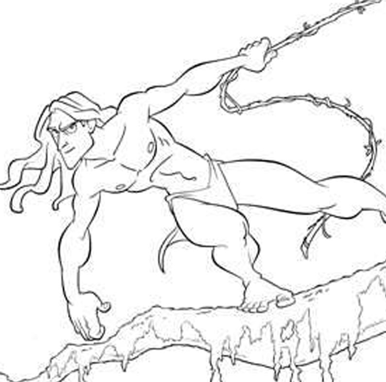 7 free walt disney tarzan printable coloring pages