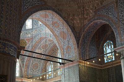 Interior de la Mezquita Azul