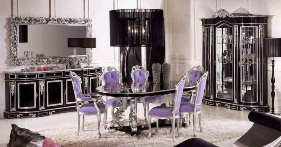 Luxury dining room furniture products furniture design blogmetro - Black and silver dining room set designs ...