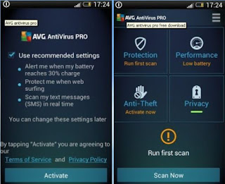 AVG AntiVirus PRO Android Security 4.3.1.1 Full Apk