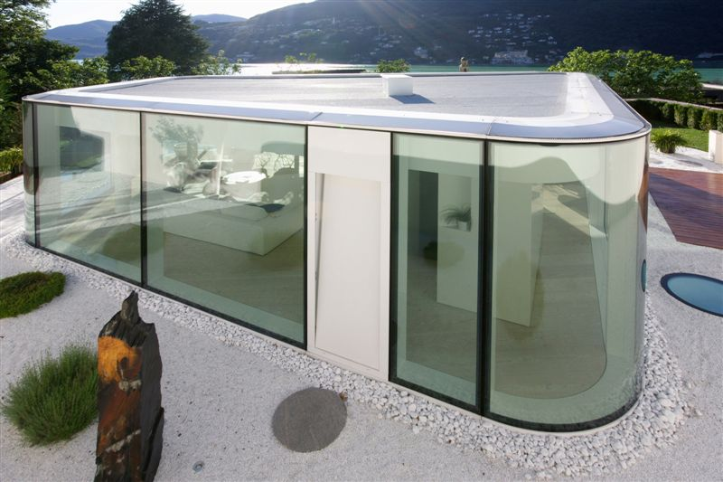 glass pavilion house lake lugano switzerland most beautiful houses in the world. Black Bedroom Furniture Sets. Home Design Ideas